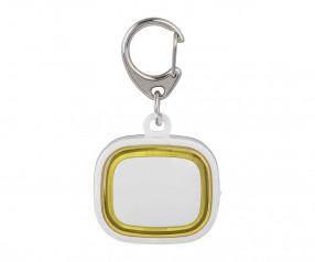 Schlüssellicht aufladbar REFLECTS-COLLECTION 500 mit Werbeanbringung weiß/gelb