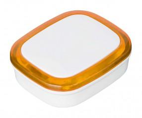 Magnet REFLECTS-COLLECTION 500 Werbegeschenk weiß/orange