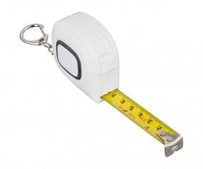 Maßband REFLECTS-COLLECTION 500 mit Werbeanbringung weiß/schwarz