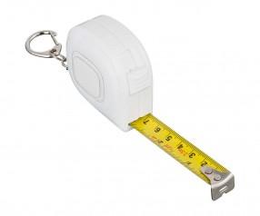 Maßband REFLECTS-COLLECTION 500 mit Beschriftung weiß/transparent