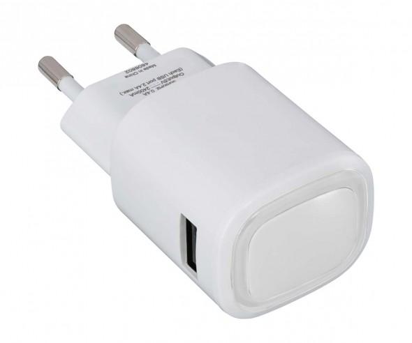 USB-Ladeadapter REFLECTS-COLLECTION 500 Werbemittel weiß/transparent