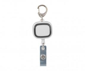 Jojo-Ausweishalter REFLECTS-COLLECTION 500 Werbegeschenk weiß/schwarz