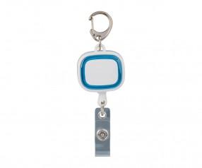 Jojo-Ausweishalter REFLECTS-COLLECTION 500 mit Logo weiß/hellblau