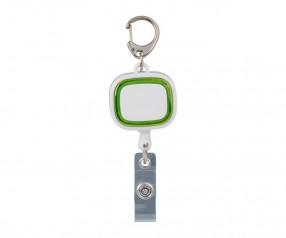 Jojo-Ausweishalter REFLECTS-COLLECTION 500 mit Werbeanbringung weiß/hellgrün