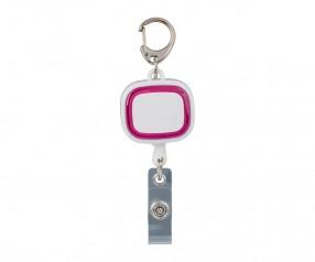 Jojo-Ausweishalter REFLECTS-COLLECTION 500 mit Beschriftung weiß/magenta