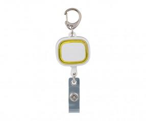 Jojo-Ausweishalter REFLECTS-COLLECTION 500 Werbegeschenk weiß/gelb