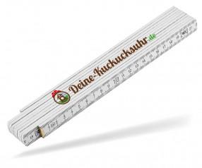 Reidinger Zollstock 2m Holz Luxus 6130 weiss - mit Digitaldruck