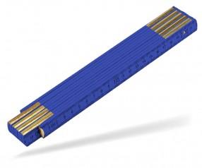 Reidinger Zollstock 2m Holz Standard 6110co blau