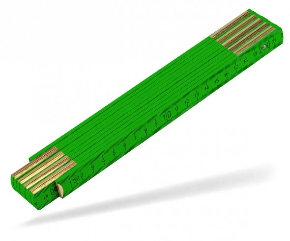 Reidinger Zollstock 2m Holz Standard 6110co grün