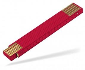 Reidinger Zollstock 2m Holz Standard 6110co rot