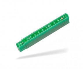 Reidinger Zollstock 1m Kunststoff 6170 grün frosted