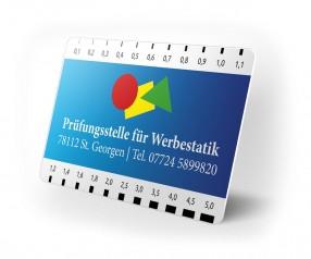 Risslineal Werbeartikel mit Logo Druck Rissbreitenlineal als Werbemittel bedrucken weiss