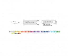 Ritter Pen Clear Frozen Gold Kugelschreiber 42001 4408 Topas-Grau