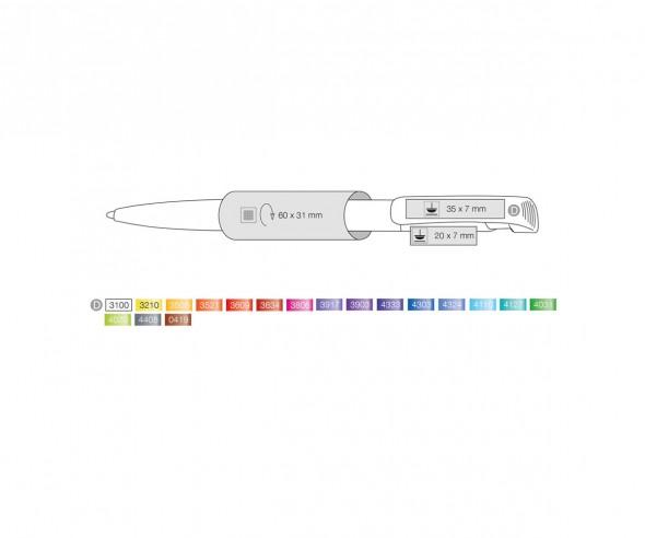 Ritter Pen Clear Silver F 32000 Kugelschreiber 4303 Royal-Blau