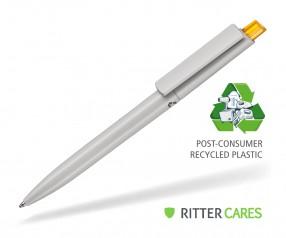 Ritter Pen Crest Recycled Kugelschreiber 95900 1425 Grau recycled - 3505 Mango-Gelb