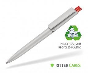 Ritter Pen Crest Recycled Kugelschreiber 95900 1425 Grau recycled - 3609 Feuer-Rot