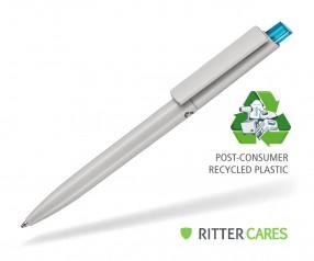 Ritter Pen Crest Recycled Kugelschreiber 95900 1425 Grau recycled - 4110 Caribic-Blau