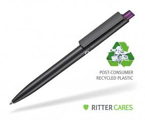 Ritter Pen Crest Recycled Kugelschreiber 95900 1525 Schwarz recycled 3903 Pflaumen-Lila