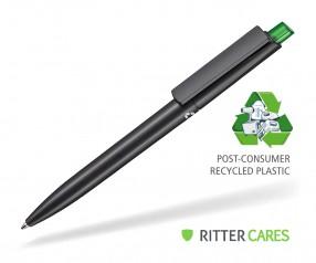 Ritter Pen Crest Recycled Kugelschreiber 95900 1525 Schwarz recycled 4031 Limonen-Grün