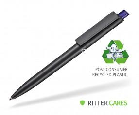 Ritter Pen Crest Recycled Kugelschreiber 95900 1525 Schwarz recycled 4333 Ozean-Blau