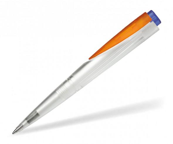 Schneider Promotion Kugelschreiber F-ACE klar orange blau
