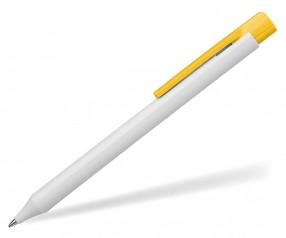 Schneider Kugelschreiber ESSENTIAL opak weiß gelb