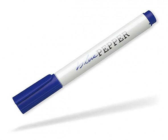 Schneider Permanent-Marker 130 blau weiss wasserfest