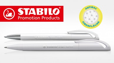 Antibakterielle Werbekugelschreiber von STABILO für hohen Hygienestandard!