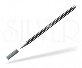STABILO pen 68 Fasermaler metallic silber