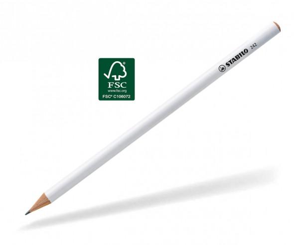 STABILO Bleistift 242 rund Holz weiss lackiert