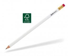 STABILO Bleistift 243 6-kant weiss Radiergummi