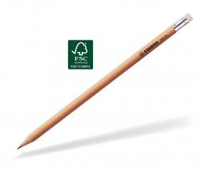 STABILO Bleistift 246 Holz rund mit Radierer