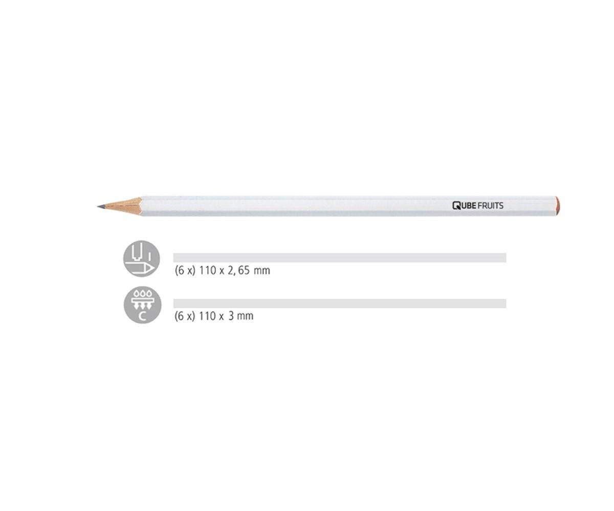 stabilo bleistift werbung 243 6 kant weiss dein pen. Black Bedroom Furniture Sets. Home Design Ideas