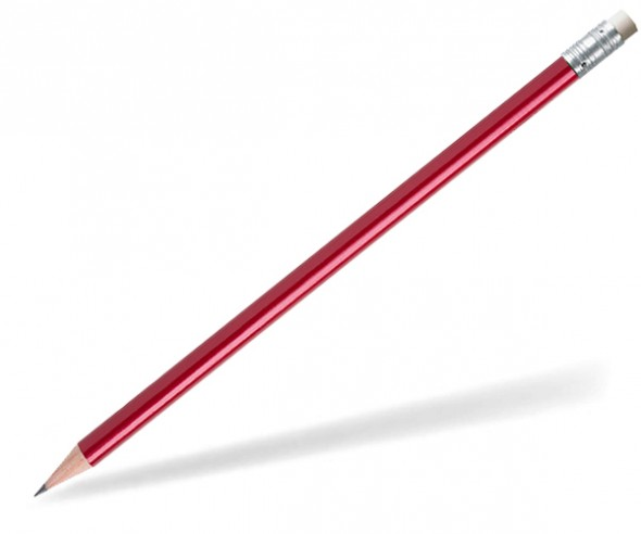 STAEDTLER Bleistift 16210W Radierer rund rot-metallic