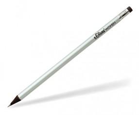 STAEDTLER schwarz durchgefärbter Bleistift mit Radiergummi 16510W silber