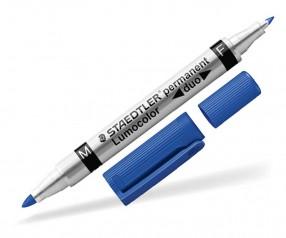 STAEDTLER Lumocolor Duo Permanent Marker Werbeartikel 348 W blau