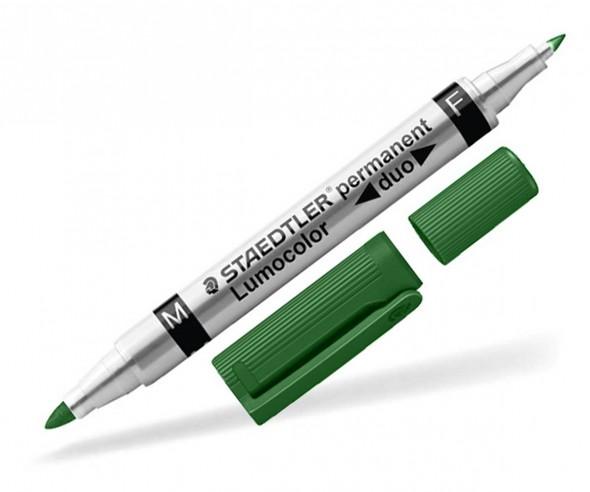 STAEDTLER Lumocolor Duo Permanent Marker Werbeartikel 348 W grün