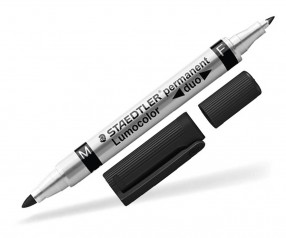 STAEDTLER Lumocolor Duo Permanent Marker Werbeartikel 348 W schwarz