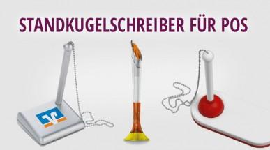 Standkugelschreiber mit Logo - das Must-have für Ihren POS