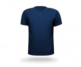 T-Shirt mit Druck runder Halsausschnitt Werbeartikel HAMBURG dunkelblau