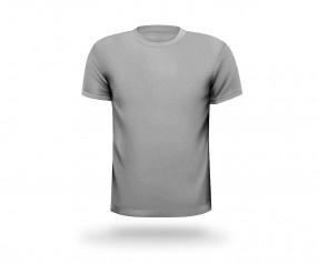 T-Shirt bedrucken runder Halsausschnitt Werbemittel DRESDEN grau meliert