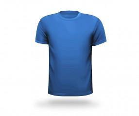 T-Shirt bedrucken lassen runder Halsausschnitt Werbeartikel FRANKFURT hellblau