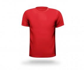 T-Shirt beschriften runder Halsausschnitt Werbemittel MÜNCHEN rot