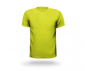 T-Shirt mit Aufdruck runder Halsausschnitt Werbeartikel DORTMUND gelb