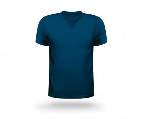 T-Shirt bedrucken V-Neck Werbeartikel KARLSRUHE dunkelblau
