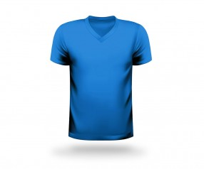 T-Shirt bedrucken V-Neck Werbeartikel LEIPZIG hellblau
