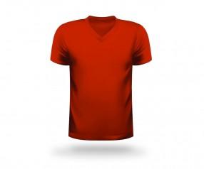 T-Shirt bedrucken V-Neck Werbeartikel NÜRNBERG rot