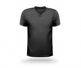 T-Shirt bedrucken V-Neck Werbeartikel DUISBURG schwarz