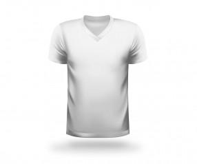 T-Shirt bedrucken V-Neck Werbeartikel BOCHUM weiss