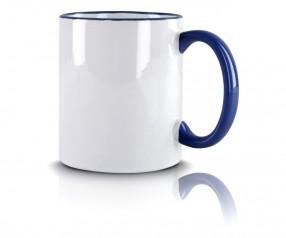 Werbeartikel Tasse blau incl. High-Quality Druck